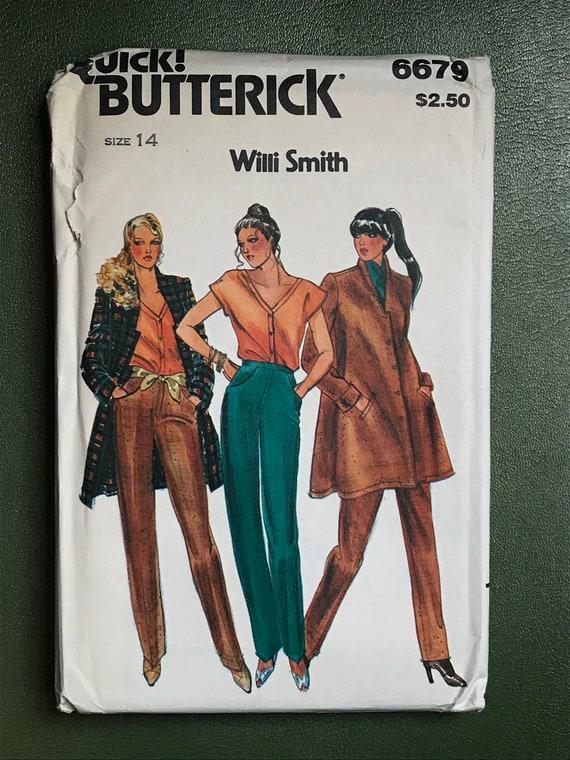 80er Jahre Damen Vintage-Schnittmuster / Willi Smith / 1980er | Etsy