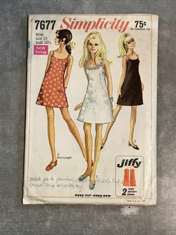 A-Linie Slip Kleid Schnittmuster / Vintage 1960er Jahre | Etsy