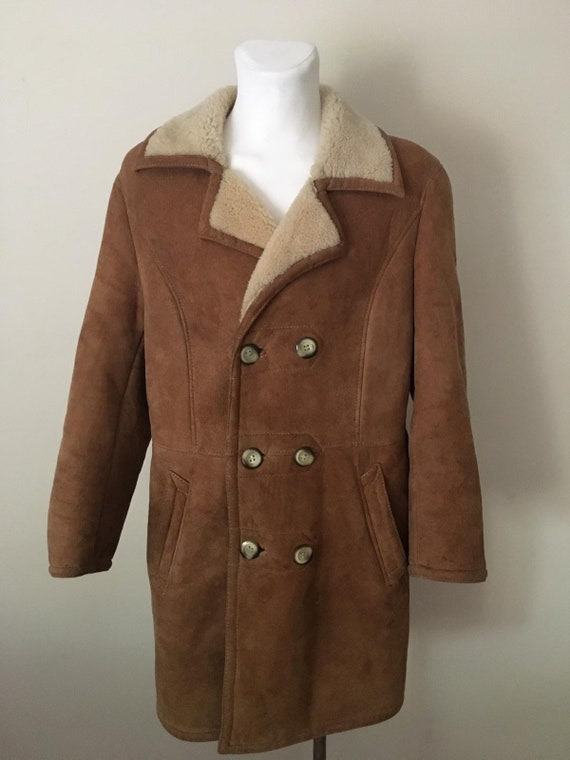 Vintage BrownMens Sheepskin Jacket