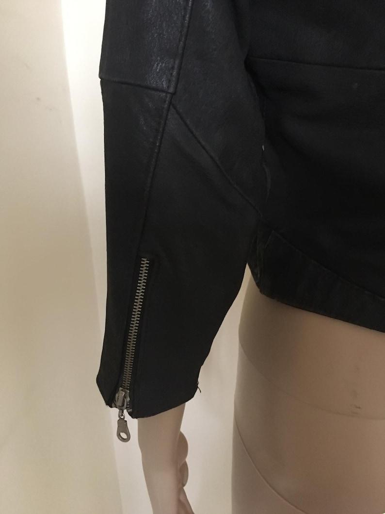 Vintage Punk Ramones Crop Leather Jacket size S