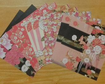 Origami (Kimono Gold Emboss type / 10sheets (5patterns x 2sheets))
