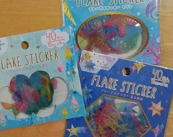 Flake stickers (Tracing paper)Stars/Rain Drops/Marine