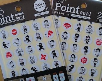 Japanese sticker (Kabuki, Ninja, Sumo, Samurai, Geisha, Kumoichi, Hime, Okan)