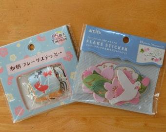 Flake stickers (Sakura & Dove/ Japanese summer)