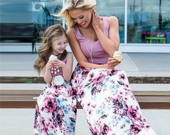 2474d4a53f1 Mommy and Me Maxi Dress Mommy and Me Outfits Dia De Las Madres Mom and  Daughter Matching Outfits Mother Daughter Dress Matching Mother Dress