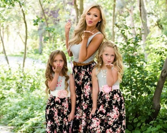 b9a40bb61a4 Mommy and Me Maxi Dress Matching Mother Daughter Dresses Mommy Me Outfits  Matching Dress Mothers Day Gift Mom Daughter Matching Outfits Girl