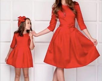 Mutter & Kinder Preiswert Kaufen Familie Passenden Mutter Tochter Blume Kleid Abend Party Sleeveless Elegante