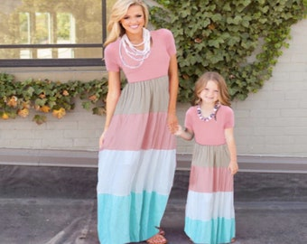 4775be5951 Mother daughter matching dress plus size