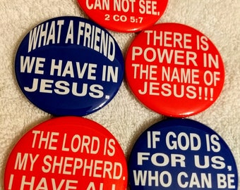 Christian Scripture Round Pinback Buttons