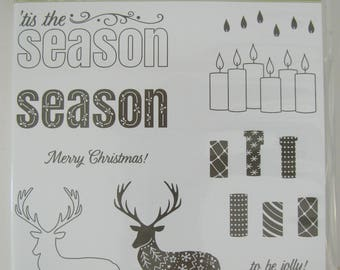 Stampin' Up Merry Patterns 11 NEW unmounted photopolymer stamps 144973