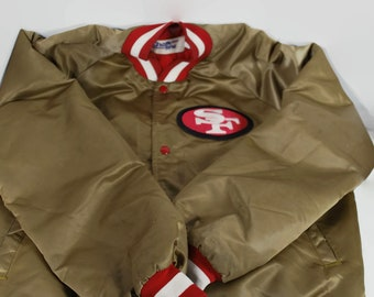 Vintage San Francisco 49ers Chalk Line Jacket Gold Size Large NFL Jacket 63aea2ad6