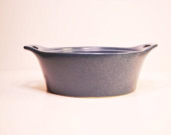 Vintage Corning Creations Stoneware Blue Corningware 1.5 QT Round Casserole