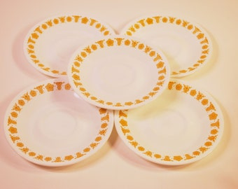 Vintage Corelle Butterfly Gold Saucers