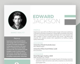 Professional and Modern Resume Template for Word and Pages / Creative Resume Design | CV Template for Word | Instant Download Resume