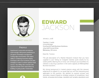 Resume Template | Professional Resume | 1 Page Resume | Modern Resume | CV Template + Cover Letter | Compact resume | Creative Resume | CV