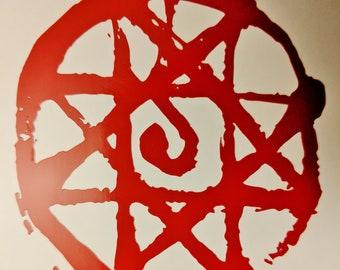 Fullmetal Alchemist Alphonse Elric Armor Transmutation Circle Decal Sticker