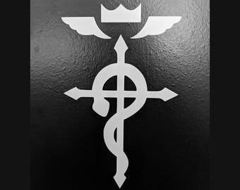 Fullmetal Alchemist Ed's Jacket Flamel Symbol Vinyl Decal