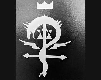 Fullmetal Alchemist Ouroboros/Alchemical Symbol Combination Vinyl Decal