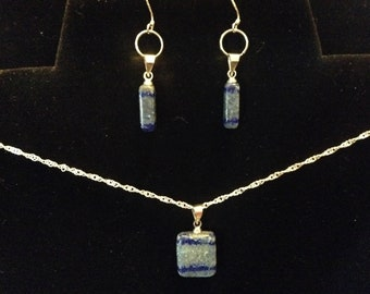 Natural Lapis Lazuli with Sterling silver