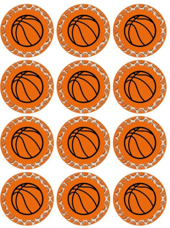 image regarding Printable Basketball identified as Basketball cupcake Topper; PRINTABLE Basketball; Basketball Electronic document Tag; Print at Residence Basketball Topper; Basketball Quick Obtain