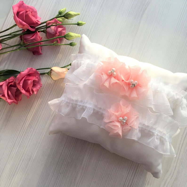 5a5078da8c3 FAST SHIPPING White   coral garter set for Coral wedding Prom