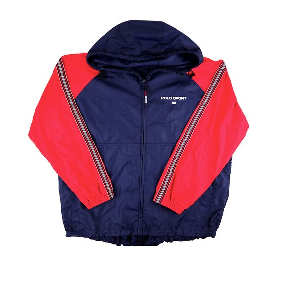 Vintage Polo Sport Full Zip Anorak Windbreaker Jacket