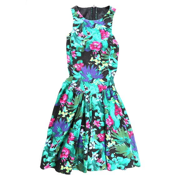 Vintage Floral Print All That Jazz Dress
