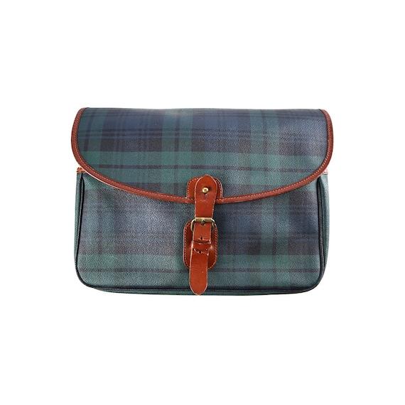 Vintage Polo Ralph Lauren Tartan Plaid Messenger Bag