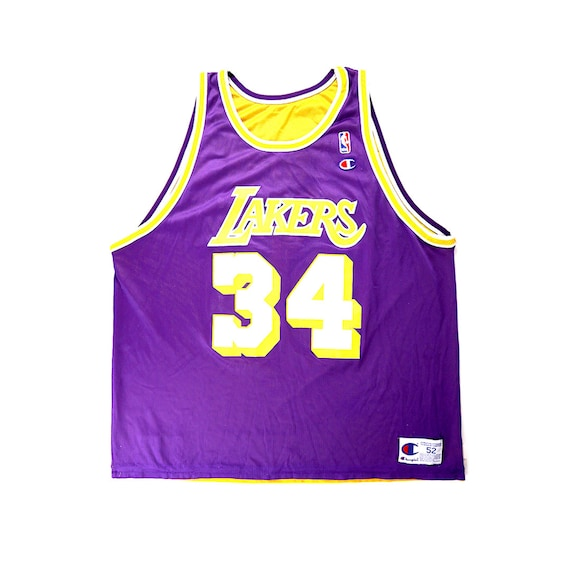Vintage Shaquille O'Neil Los Angeles Lakers Reversible Champion Jersey