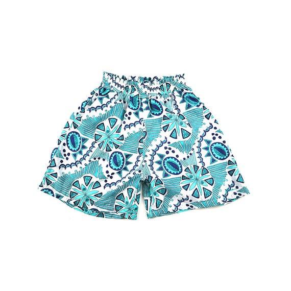 Vintage Puma Outlined Floral Pattern Windbreaker Shorts