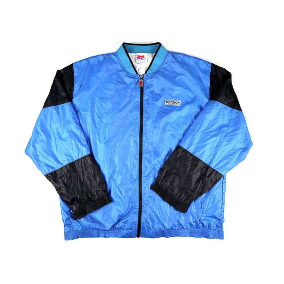 Vintage Reebok Full Zip Bomber Windbreaker Jacket