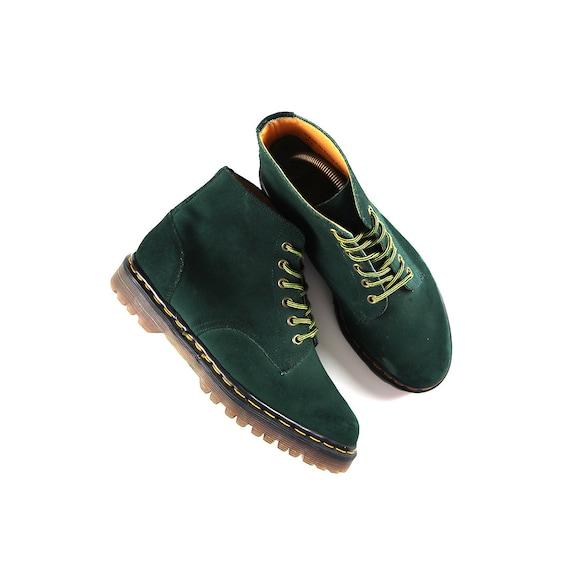 Vintage Forest Green Doc Martens Boots