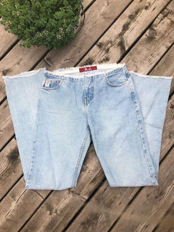 Vintage Guess Jeans, Frayed Vintage Guess Jeans, V