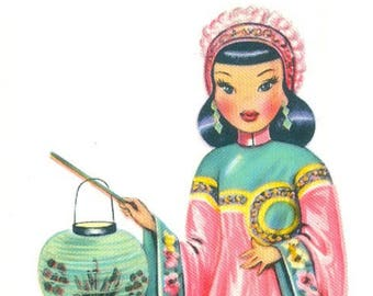 Doll of China Dolls of Many Lands Series Glossy Postcard