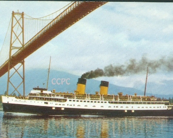 Luxury Liner Miniature the Princess Marguerite Service Between Vancouver, Victoria & Seattle Washington Postcard V-7 (20604)