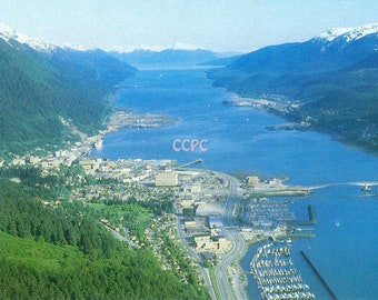 Juneau Alaska Capital of the State Tongass National Forest at the Gastineau Channel Photo Postcard (31447)