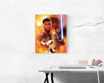 Star Wars Finn Poster Artwork
