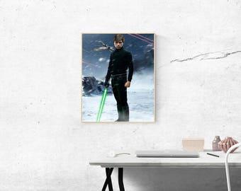 Star Wars Luke Skywalker Poster Artwork
