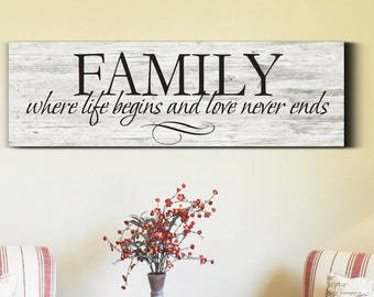 Family Wood Sign, Family Sign Home Decor, Family Sign, Living Room Sign, Rustic Wood Sign, Farmhouse Wood Sign, Farmhouse Decor, Wood Sign