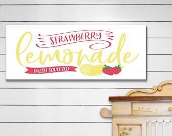 Lemonade Sign, Summer Signs, Lemonade Wall Art, Patio Signs, Kitchen Signs, Summer Decor, Lemonade Wood Sign, Farmhouse Sign, Lemon Decor
