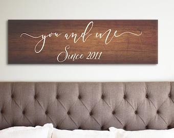 Personalized Sign, You and Me Since Sign, Personalized Signs Wood, Established Sign, Personalized Sign Wedding, Established Wedding Sign