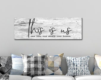 Family Sign, This Is Us Sign, Family Sign Home Decor, Family Wood Sign, Living Room Sign, Farmhouse Wood Sign, This Is Us Wood Sign