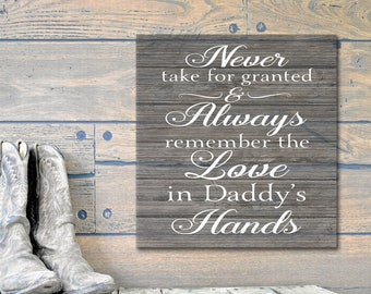 Fathers Day Gift, Daddys Hands, Daddys First Fathers Day, Fathers Gift, Fathers Gift From Bride, Fathers Day, Fathers Gift From Daughter