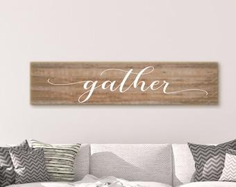 Gather Sign, Gather Wood Sign, Gather Sign Wood, Scripture Signs, Scripture Wood Sign, Scripture Wall Decor, Wood Scripture Sign