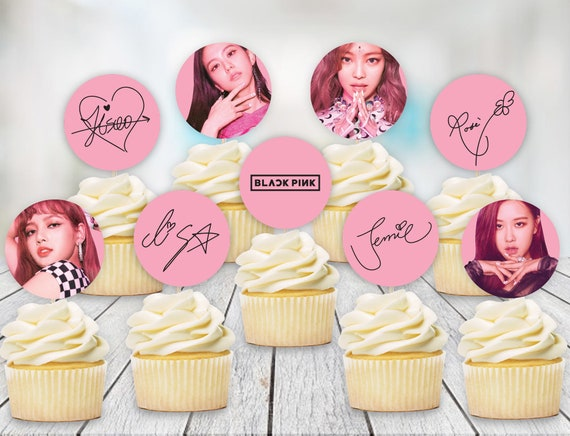Blackpink Printable Cupcake Toppers Pink Ver Etsy
