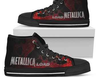5d10744e3049 Metallica Load Shoes - Heavy Metal Band 1996 - Converse Style - Sneaker