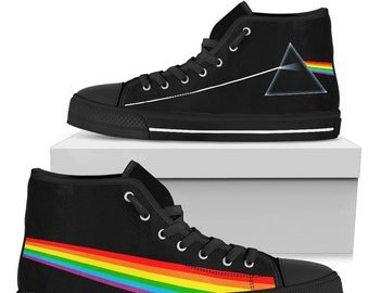75b5401d1fe354 Dark Side Of the Moon High Top Shoes Limited Edition  - Dark Side Of the  Moon
