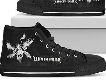 b35c36639c58 Linkin Park Shoes - Hybrid Theory Art - Custom Shoes - Rock Festival Shoes  - Converse Shoes Limited Edition