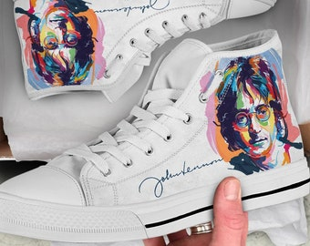 f54b2d1fbe97 The Beatles Shoes - John Lennon Art Shoes - Custom Shoes - Converse Shoes  Limited Edition