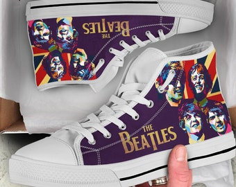 1312f287af4e The Beatles Shoes - Custom Shoes - Converse Style Shoes Limited Edition